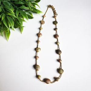 💥 Gold Tone & Pastel Enamel Fashion Necklace